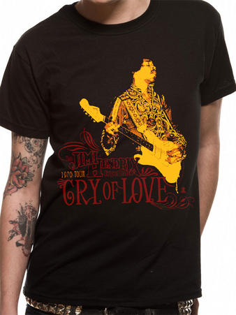 Jimi Hendrix (Cry Of Love) T-shirt Preview