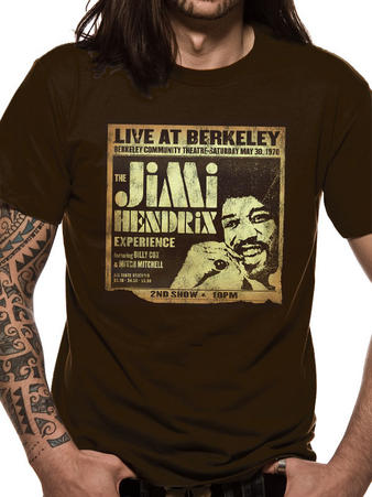 Jimi Hendrix (Live At Berkeley) T-shirt Preview