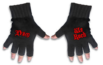 Dio (Logo & We Rock) Fingerless Gloves Preview