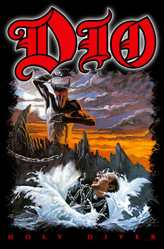 Dio (Holy Diver) Textile Poster Preview