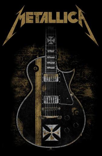 Metallica (Hetfield Guitar) Textile Poster Preview