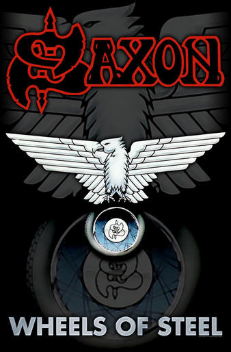 Saxon (Wheels Of Steel) Textile Poster Preview