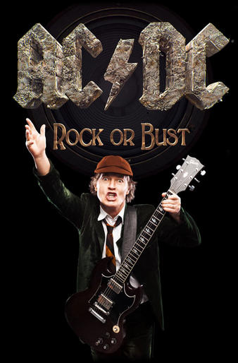 AC/DC (Rock Or Bust / Angus) Textile Poster Preview