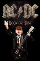 AC/DC (Rock Or Bust / Angus) Textile Poster