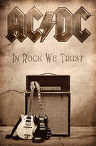 AC/DC (In Rock We Trust) Textile Poster