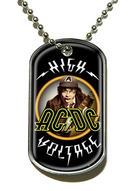 AC/DC (High Voltage) Dog Tag