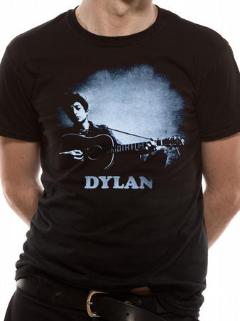 Bob Dylan (Guitar & Logo) T-shirt Preview