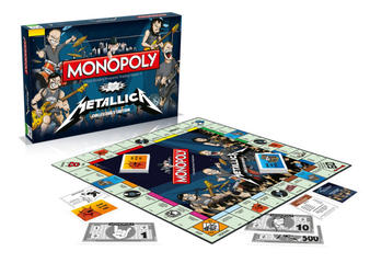 Metallica (Rock Band) Monopoly Preview