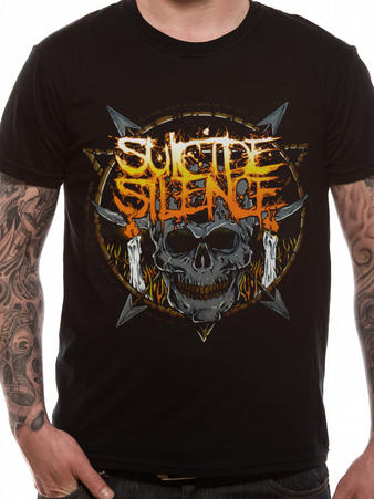 Suicide Silence (Candle Skull) T-Shirt Preview