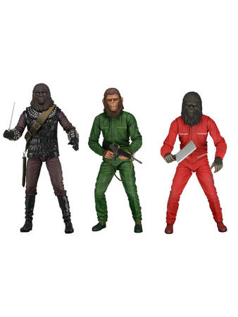 """Planet Of The Apes 2 (Classic Series 3 SDCC 2015) 7"""" Figure Set Preview"""