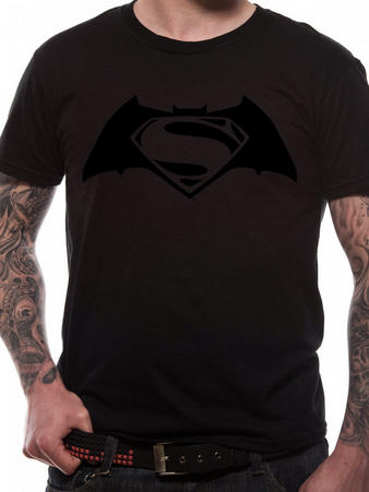 Batman V Superman (Black On Black) T-shirt Preview