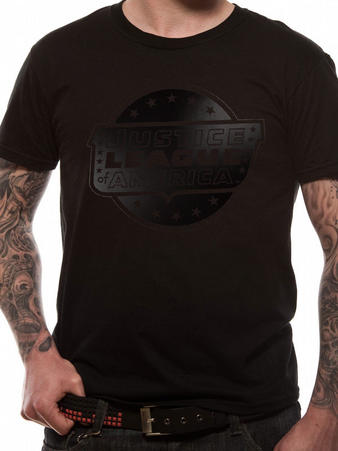 Justice League (Black On Black) T-shirt Preview