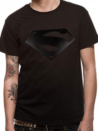 Superman (Black On Black) T-shirt Preview