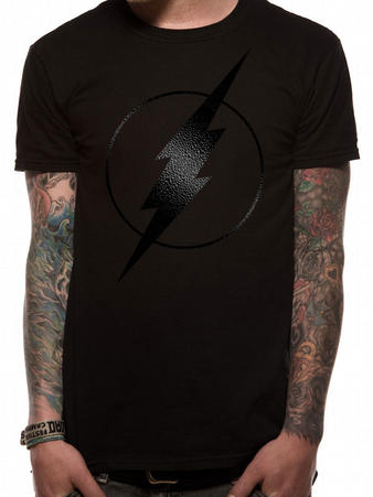 The Flash (Black On Black Logo) T-shirt Preview