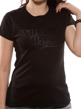 Wonder Woman (Black On Black Logo) T-shirt Preview