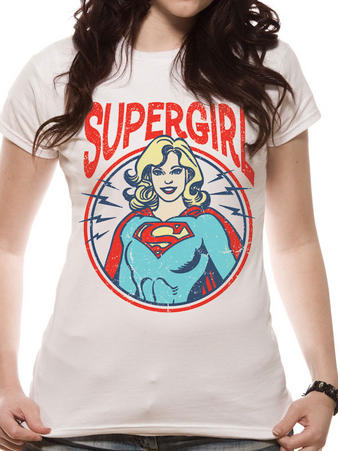 Supergirl (Retro Circle) T-shirt Preview