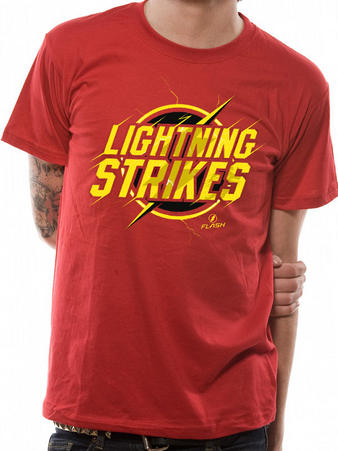 The Flash (Lightning Strikes) T-shirt Preview