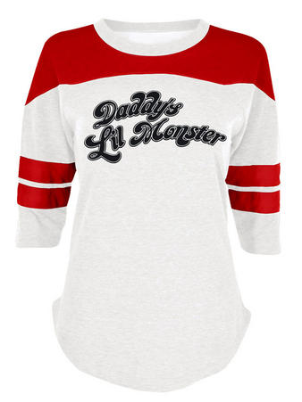 Suicide Squad (Daddy's Lil Monster) 3/4 Varsity Raglan Preview