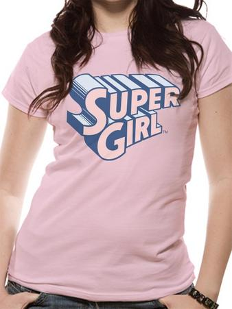 Supergirl (Text & Logo) Fitted T-shirt Preview