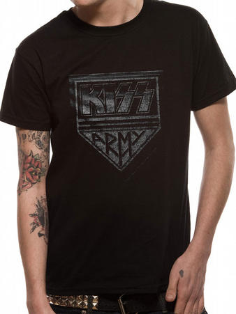 Kiss (Army Distressed) T-shirt Preview