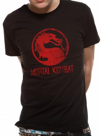 Mortal Kombat (Distressed Logo) T-shirt Preview