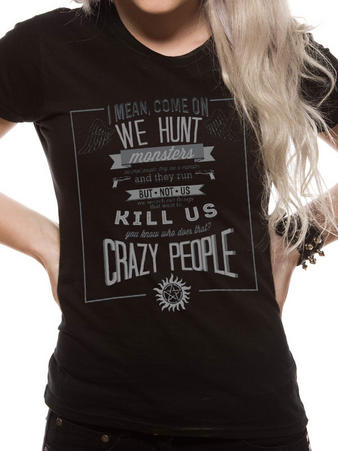 Supernatural (Crazy People) Fitted T-shirt Preview