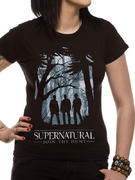 Supernatural (Group Outline) Fitted T-shirt
