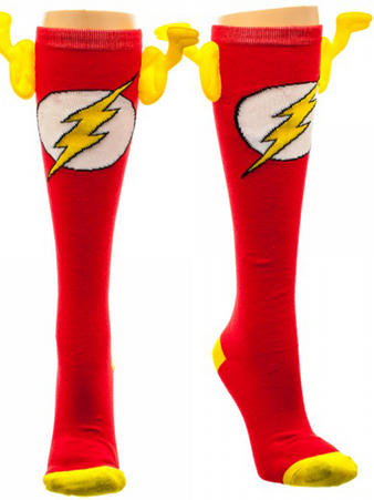 The Flash (Logo (Knee High With Wings) Knee High Socks With Wings Preview