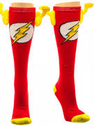 The Flash (Logo (Knee High With Wings) Knee High Socks With Wings