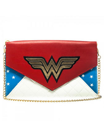 Wonder Woman (Logo) Envelope Wallet With Chain Preview