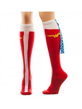 Wonder Woman (Logo (Knee High With Cape) Knee High Socks With Cape Preview