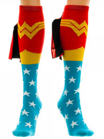 Wonder Woman (Shiney Cape (Knee High With Cape) Knee High Socks With Cape Preview