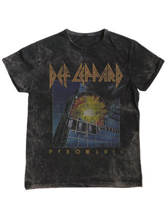 Def Leppard (Vintage Pyromania) T-shirt Preview