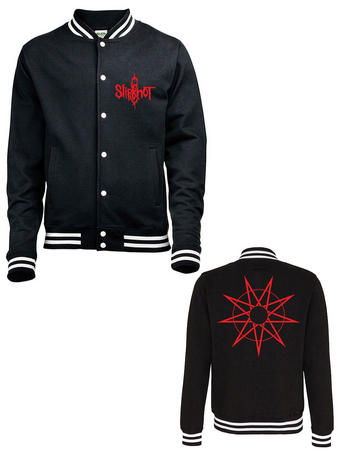 Slipknot (Logo & 9 Point Star) Varsity Jacket Preview