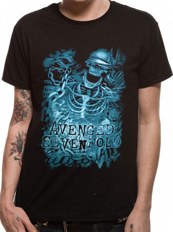 Avenged Sevenfold (Chained Skeleton) T-shirt Preview