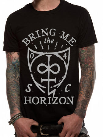 Bring Me The Horizon (Hand Drawn Shield) T-shirt Preview