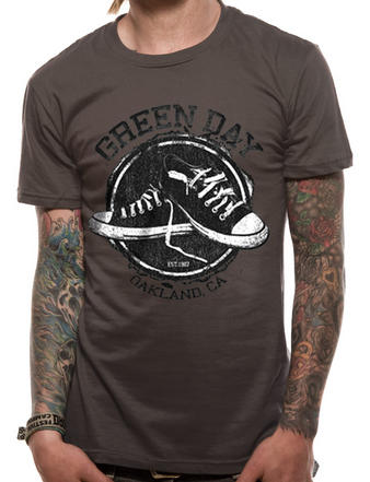 Green Day (Converse Mens Grey) T-shirt Preview