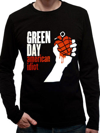 Green Day (American Idiot Black Long Sleeve) T-shirt Preview
