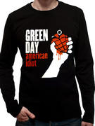 Green Day (American Idiot Black Long Sleeve) T-shirt