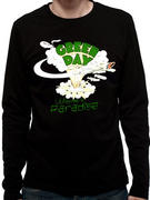 Green Day (Welcome to Paradise Mens Black Long Sleeved) T-shirt
