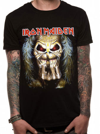 Iron Maiden (Eddie Candle Finger) T-shirt Preview