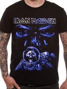 Iron Maiden (Final Frontier Blue Album Spaceman) T-shirt