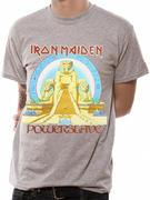 Iron Maiden (Powerslave Egypt Mens Heather Grey) T-shirt