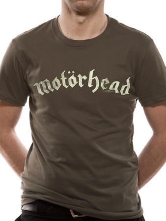 Motorhead (Distressed Logo Mens Charcoal) T-shirt Preview