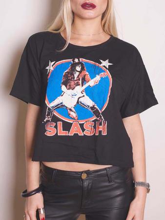 Slash (Stars Illuminous Print Boxy) T-shirt Preview