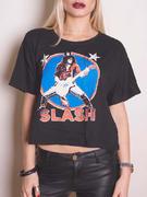 Slash (Stars Illuminous Print Boxy) T-shirt Thumbnail 1