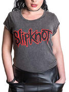 Slipknot (Logo Acid Wash Ladies) T-shirt