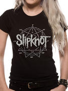Slipknot (Logo Star Diamante Ladies) T-shirt