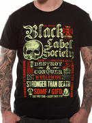 Black Label Society (Destroy & Conquer) T-shirt Thumbnail 1