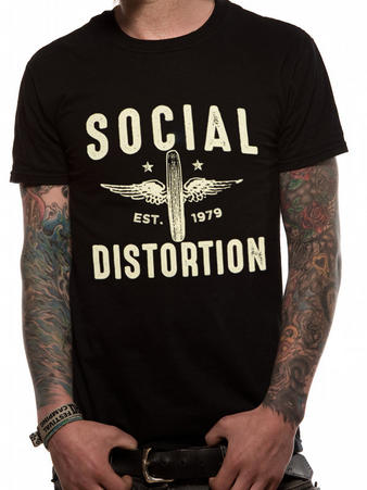 Social Distortion (Winged Wheel) T-shirt Preview